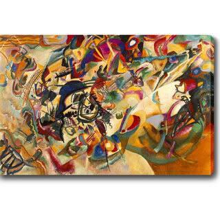Wassily Kandinsky 'Composition VII' Oil on Canvas Art
