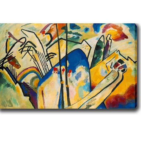 Wassily Kandinsky 'Composition IV' Oil on Canvas Art - Multi