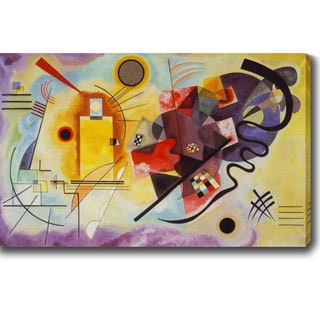 Wassily Kandinsky 'Yellow, Red, Blue' Oil on Canvas Art