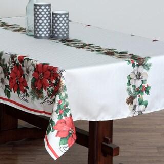 Botanical Christmas Herringbone Tablecloth
