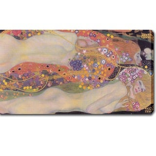 Gustav Klimt 'Water Snakes II' Oil on Canvas Art