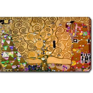 Gustav Klimt 'The Tree of Life, Stoclet Frieze' Oil on Canvas Art