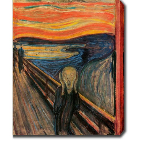 Edvard Munch 'The Scream' Oil on Canvas Art - Multi