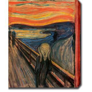 Edvard Munch 'The Scream' Oil on Canvas Art - Multi