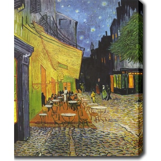 Vincent van Gogh 'Cafe Terrace at Night' Oil on Canvas Art