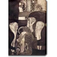 Gustav Klim 'Jurisprudence' Oil on Canvas Art