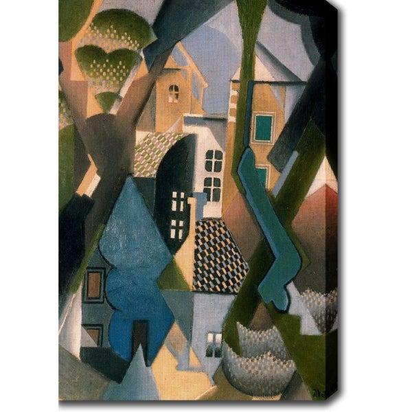 Jean Metzinger 'The Village Artist' Oil on Canvas Art - Multi 12958217
