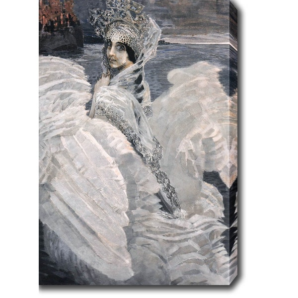 Mikhail Vrubel 'The Swan Princess' Oil on Canvas Art