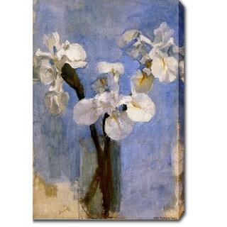 Piet Mondrian 'Flowers Sun' Oil on Canvas Art - Multi