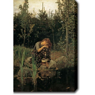 Viktor Vasnetsov 'Alenushka' Oil on Canvas Art