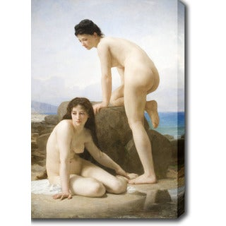 William Adolphe Bouguereau 'The Bathers' Oil on Canvas Art