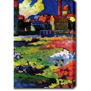 Wassily Kandinsky 'Munich-Schwabing with the church of St. Ursula' Oil on Canvas Art