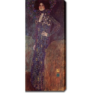 Gustav Klimt 'Portrait of Emilie Flöge' Oil on Canvas Art