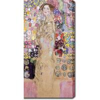 Gustav Klimt 'Portrait of Maria Munk' Oil on Canvas Art - Multi