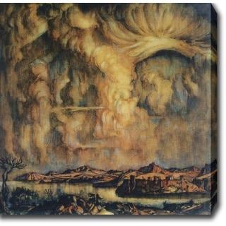 Konstantin Bogaevsky 'A Cloud' Oil on Canvas Art