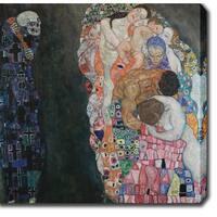Gustav Klim 'Death and Life' Oil on Canvas Art