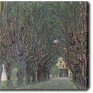 Gustav Klim 'Avenue of Schloss Kammer Park' Oil on Canvas Art