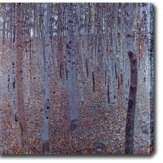 Gustav Klim 'Buchenhain' Oil on Canvas Art