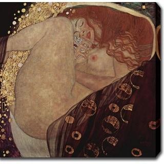 Gustav Klim 'Danae' Oil on Canvas Art