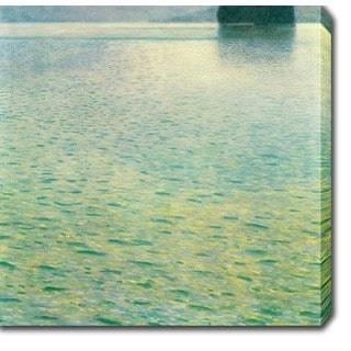 Gustav Klim 'Island in the Attersee' Oil on Canvas Art