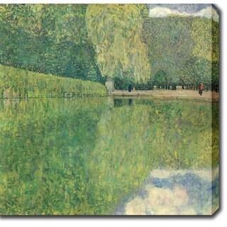 Gustav Klim 'Park of Schonbrunn' Oil on Canvas Art