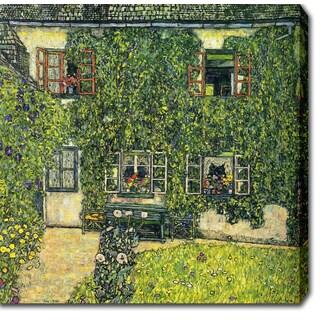 Gustav Klim 'The House of Guardaboschi' Oil on Canvas Art