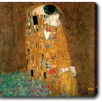 Gustav Klim 'The Kiss' Oil on Canvas Art - Multi