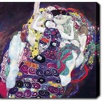 Gustav Klim 'The Virgin' Oil on Canvas Art
