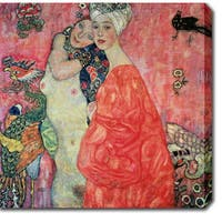 Gustav Klim 'The Women Friends' Oil on Canvas Art