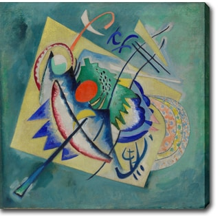 Wasilly Kandinsky 'Red Oval y' Oil on Canvas Art