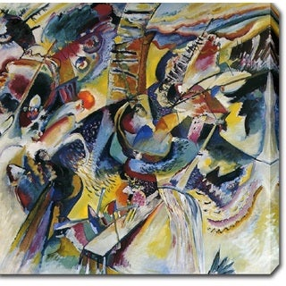 Wasilly Kandinsky 'Improvisation. Gorge' Oil on Canvas Art