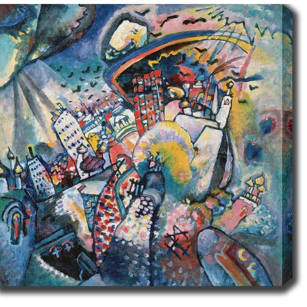 Wasilly Kandinsky 'Moscow I' Oil on Canvas Art