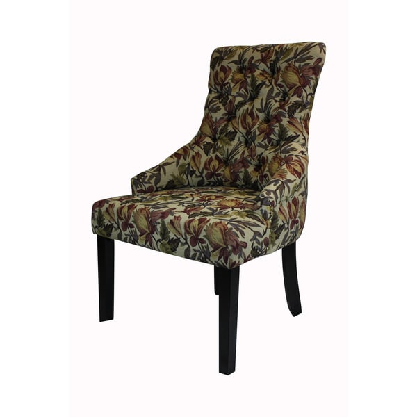 Overstock Parsons Chair ... Chair Tulip Floral (Set of 2) - Free Shipping Today - Overstock.com