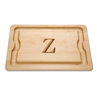 J.K. Adams 20-Inch by 14-Inch Maple Wood Monogrammed BBQ Board Collection