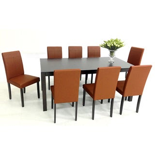 Warehouse Of TIffanyu0027s 9 Piece Toffee Tafline With Juno Table Dining Set