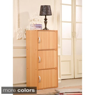 Three-door Wooden Storage Cabinet (2 options available)