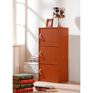 Three-door Wooden Storage Cabinet (4 options available)