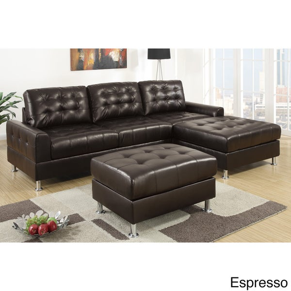 Shop Serres Classic 2-piece Sectional Sofa with Ottoman - Free ...