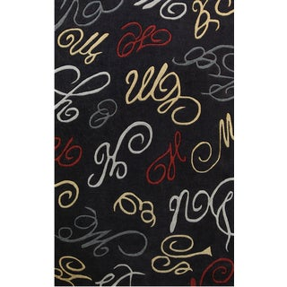 Symphony Abstract Swirls Area Rug (8' x 11')