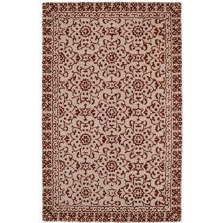 Paragon Chocolate/Beige Wool Rug (2' x 4')