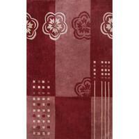 Symphony Floral Color Block Rug (6'7 x 9'6) - 6'7 x 9'6