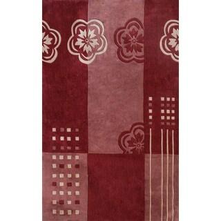 Symphony Floral Color Block Rug - 6'7 x 9'6