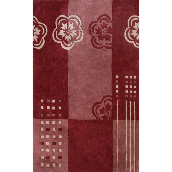 Symphony Floral Color Block Rug - 6'7 x 9'6