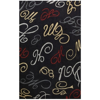 Hand-tufted Symphony Abstract Swirls Rug (6.7' x 9.6')