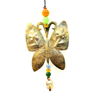 Handmade Big Butterfly Wind Chime (India)