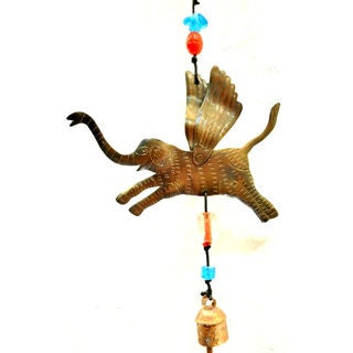 Handmade Look I Am Flying Elephant Wind Chime (India)