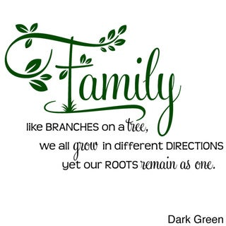 "'Family, Like Branches on a Tree..."" Two-tone Vinyl Wall Decal"