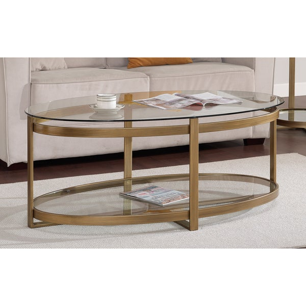 Retro Glitz Glass Metal Coffee Table Free Shipping Today