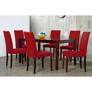 Warehouse of Tiffany 7-piece Red Shino Dining Set