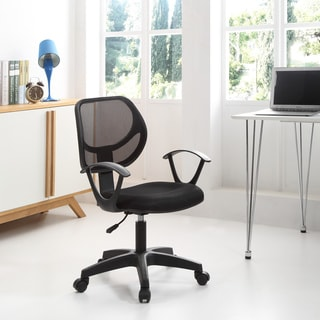 Swiveling Black Mesh Mid-back Task Chair